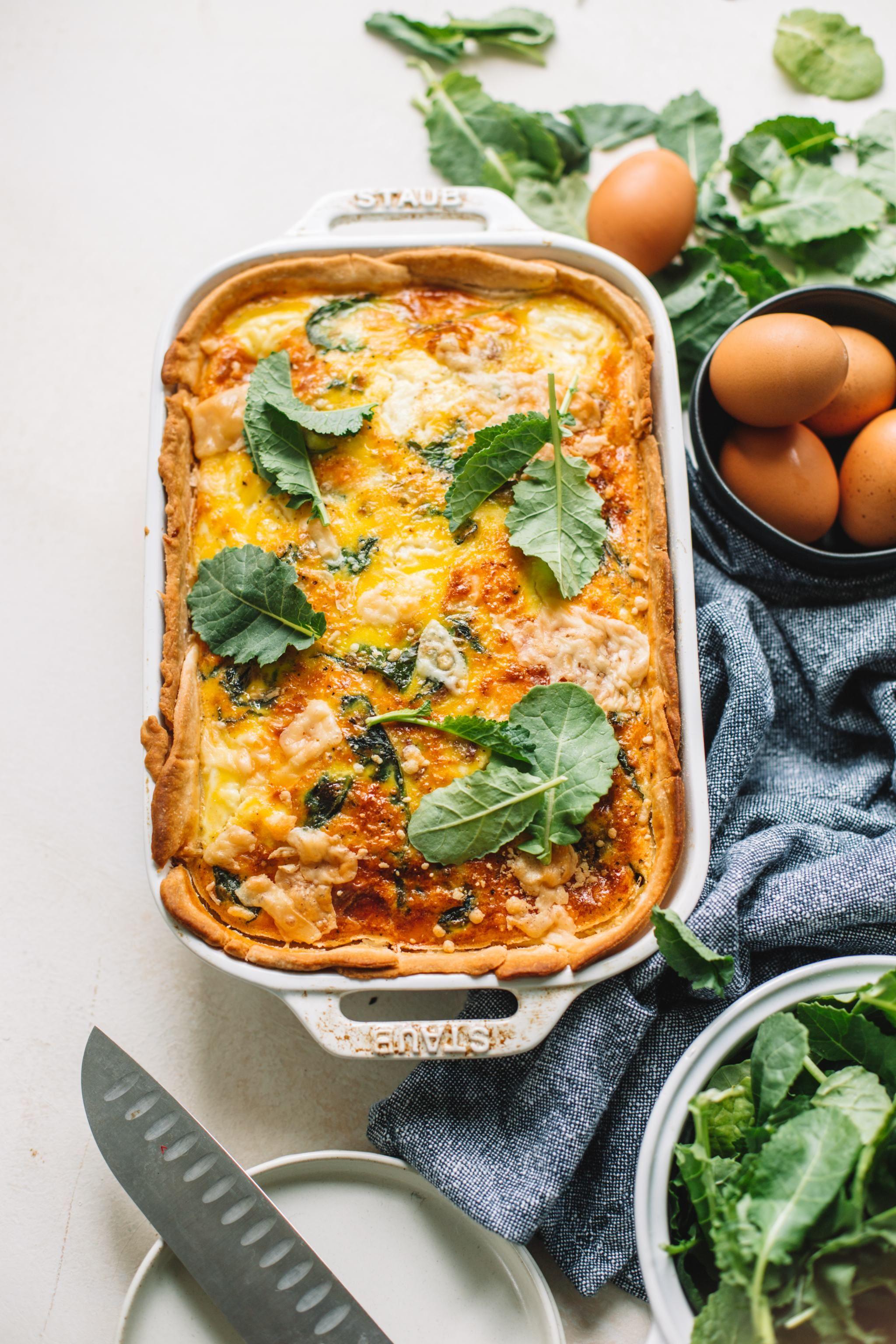 Sausage, Kale and Ricotta Quiche Casserole