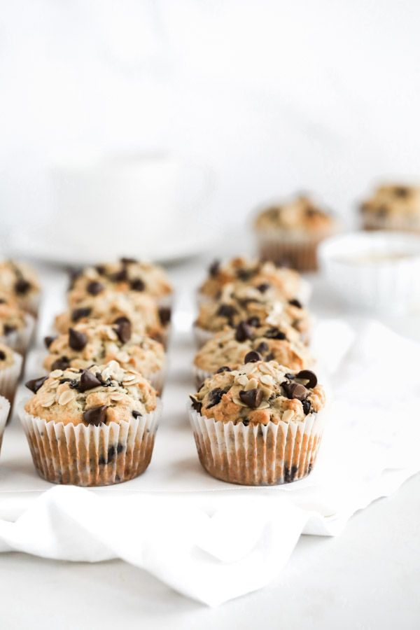 Banana Chocolate Chip Chia muffins with Oats