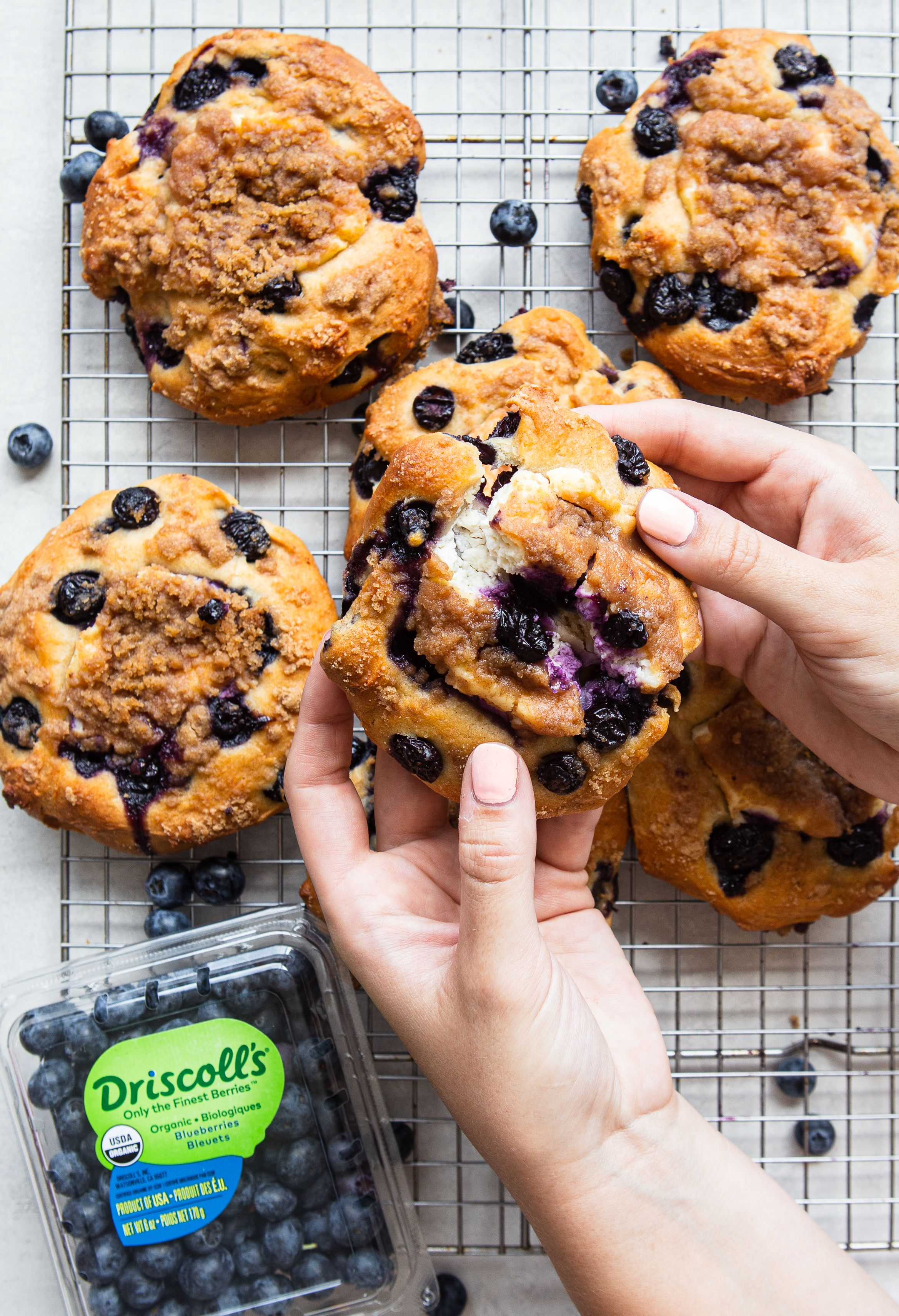 One Bowl Blueberry Muffin Tops