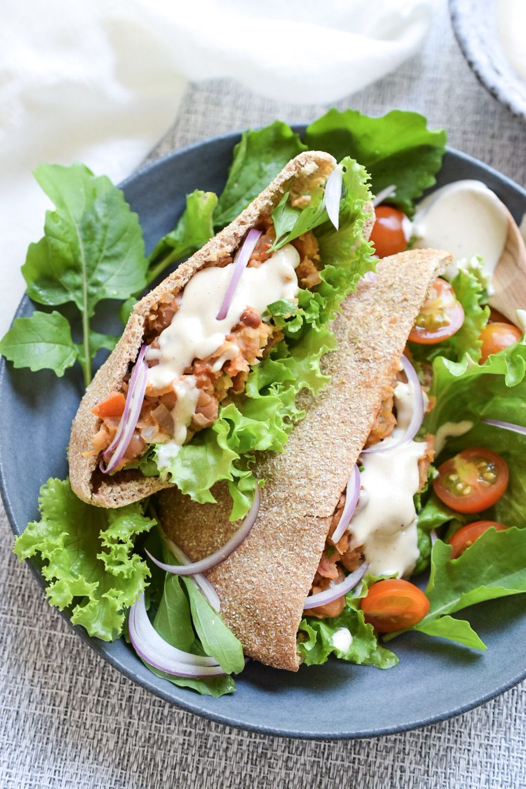 Broad Bean and Tahini Pita