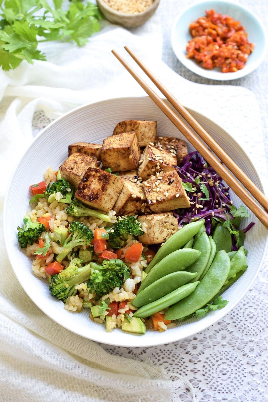 Ginger Tofu Stir Fried rice