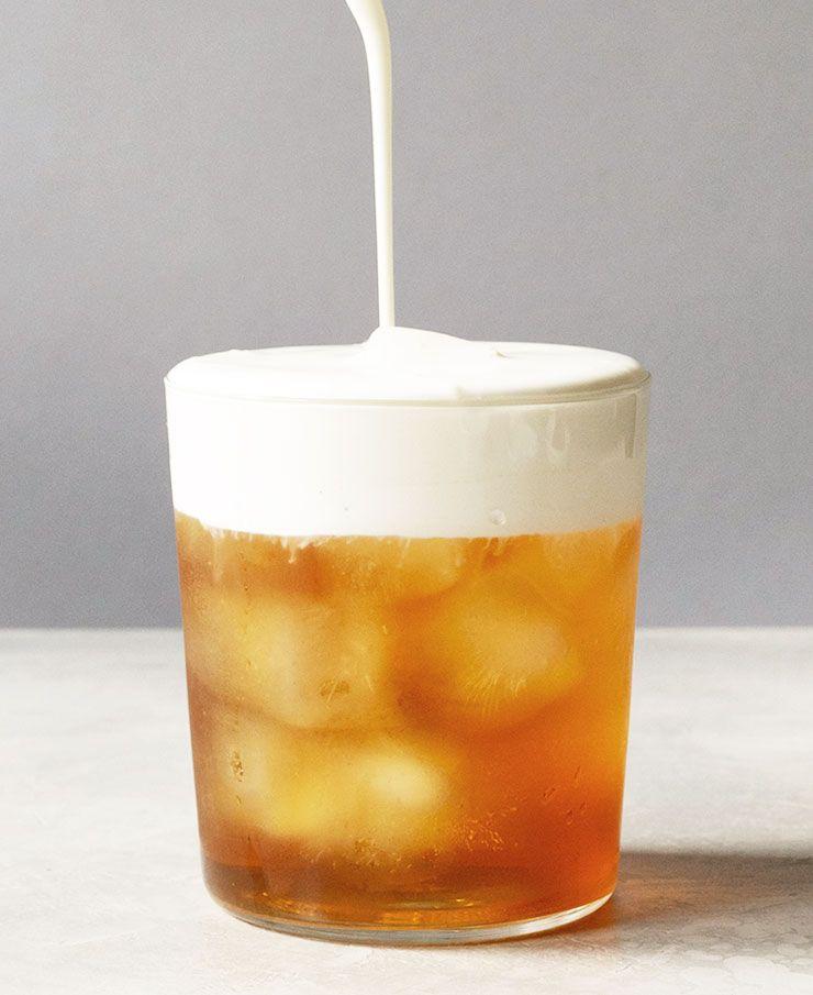 Iced Earl Grey Tea with Cream Froth