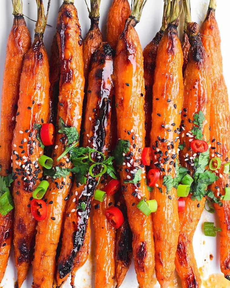 Roasted Ginger Miso Carrots