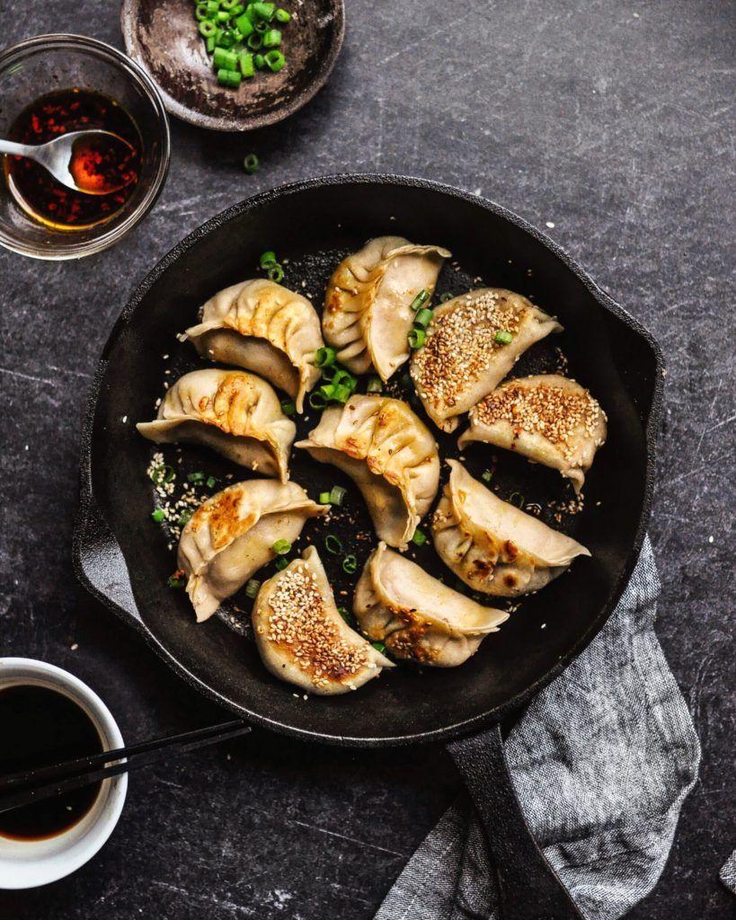 Mushroom Cabbage Potstickers