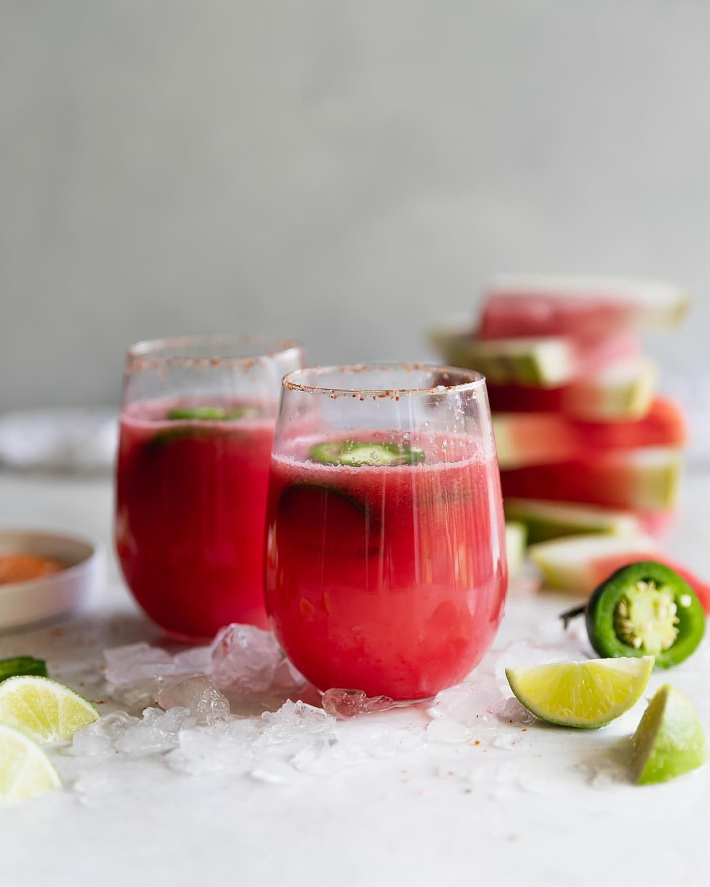 Spicy Watermelon Tequila Punch
