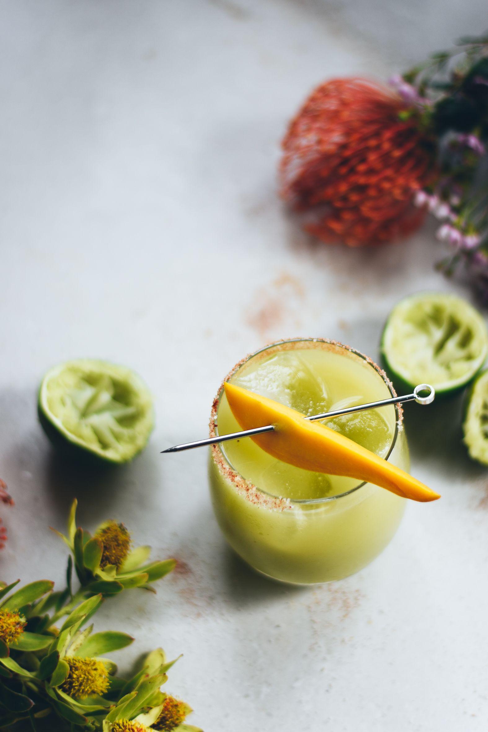 Mango Lime Avocado Margaritas