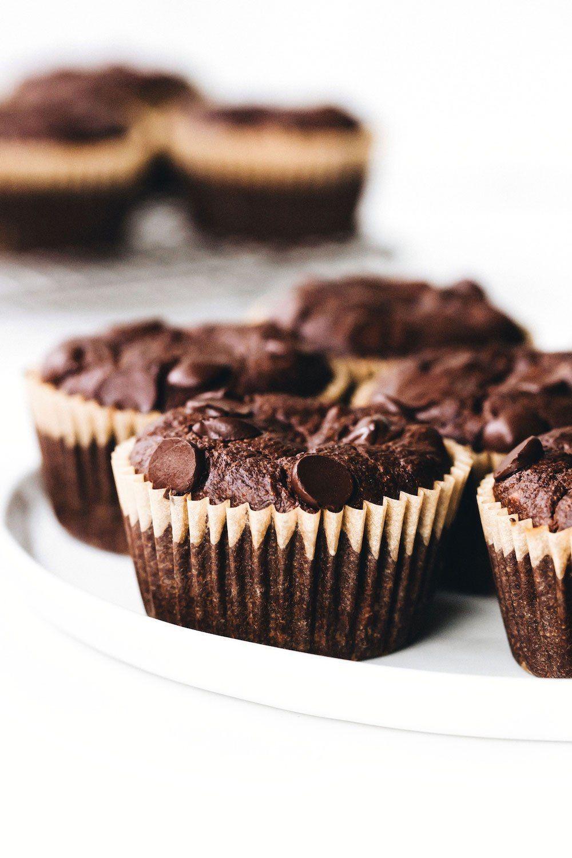 Hazelnut Chocolate Chocolate Chip Muffins