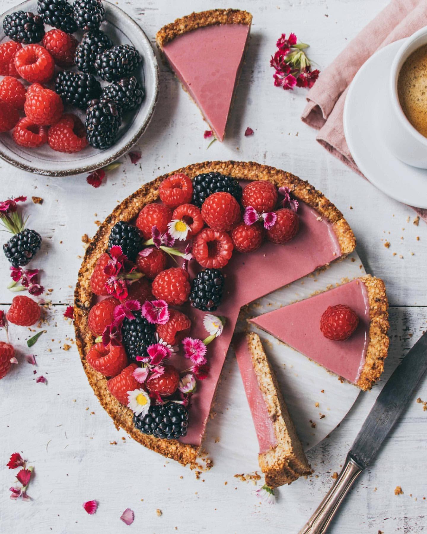 Coconut Raspberry Tart