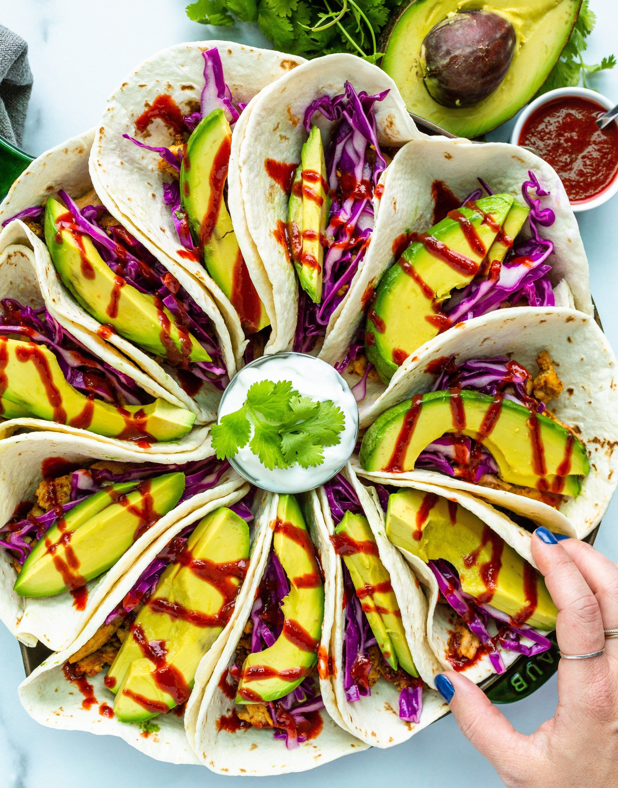 Avocado Cabbage Tacos