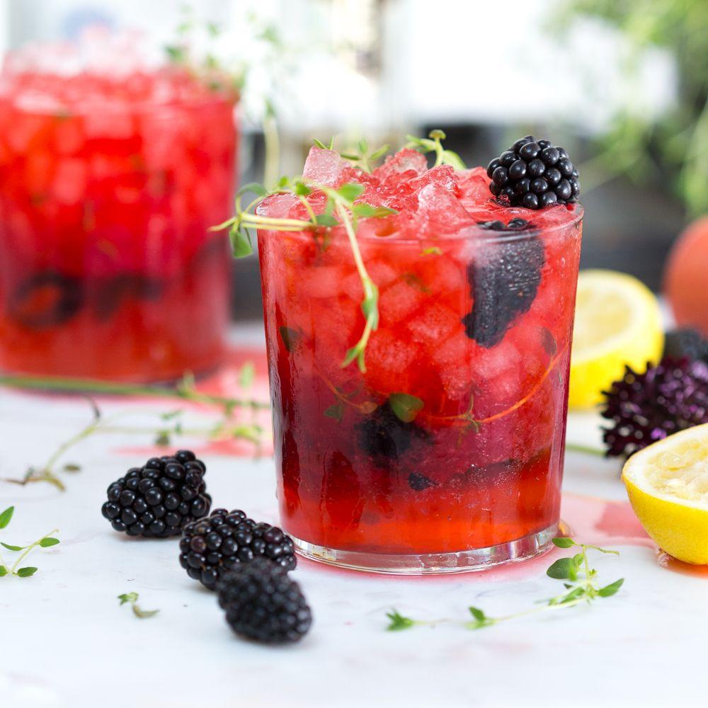 Blackberry Thyme Gin Smash