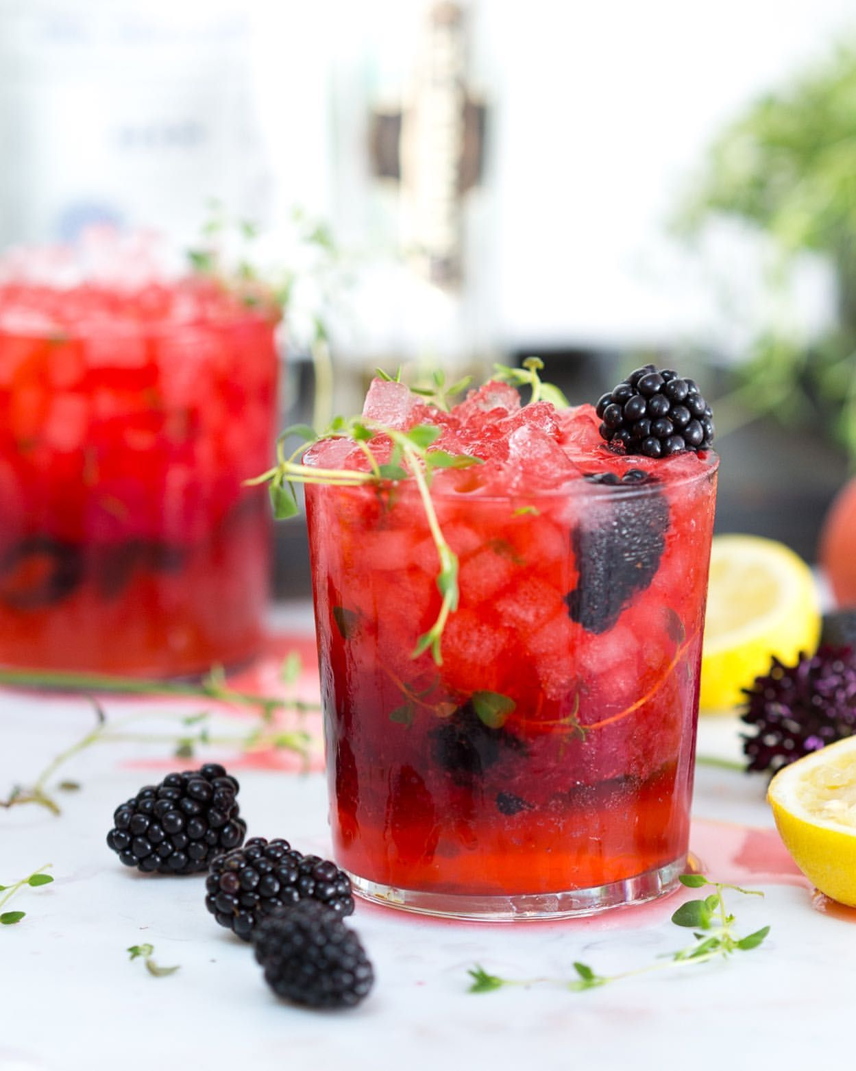 Gin Smash with Blackberries