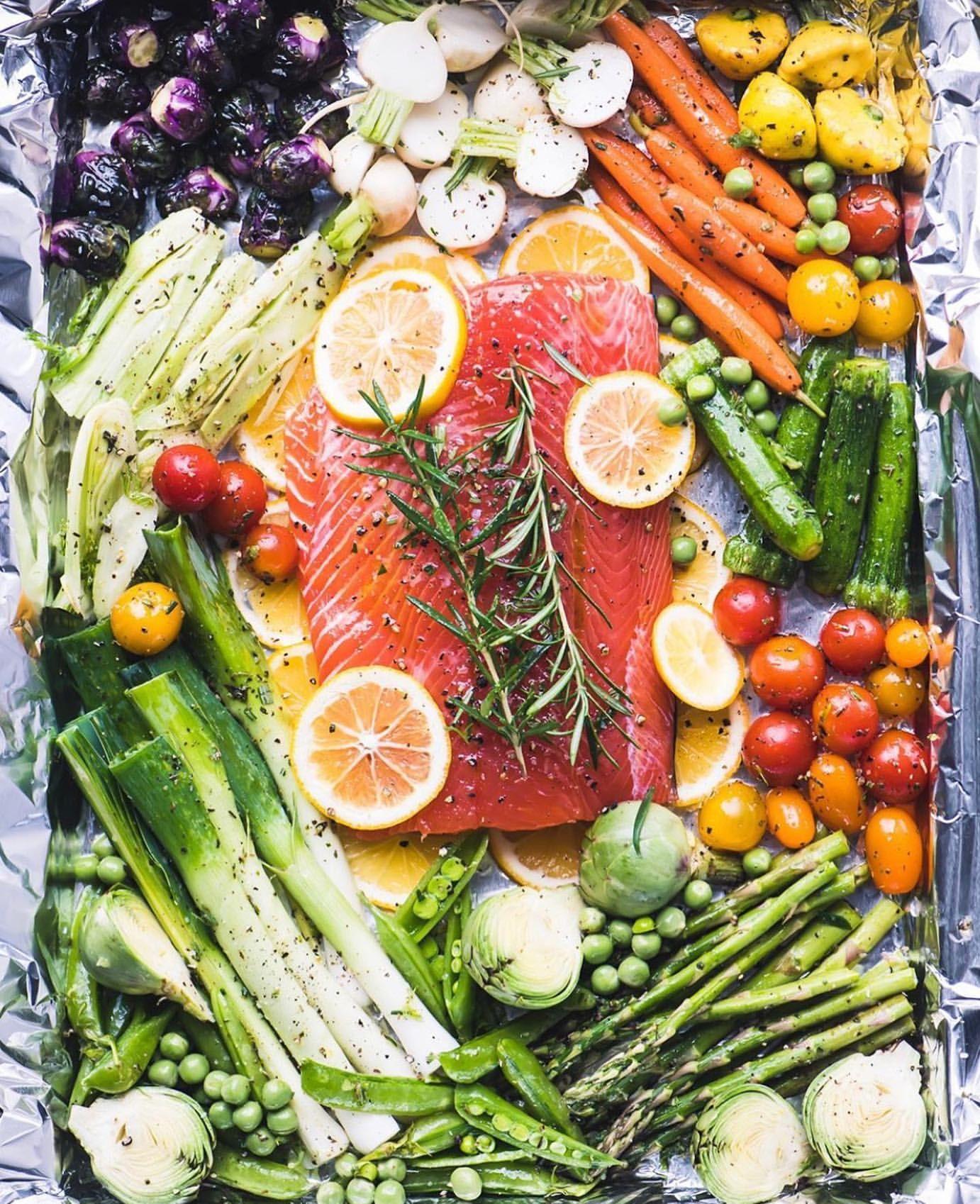 Sheet Pan Salmon and Spring Veggies