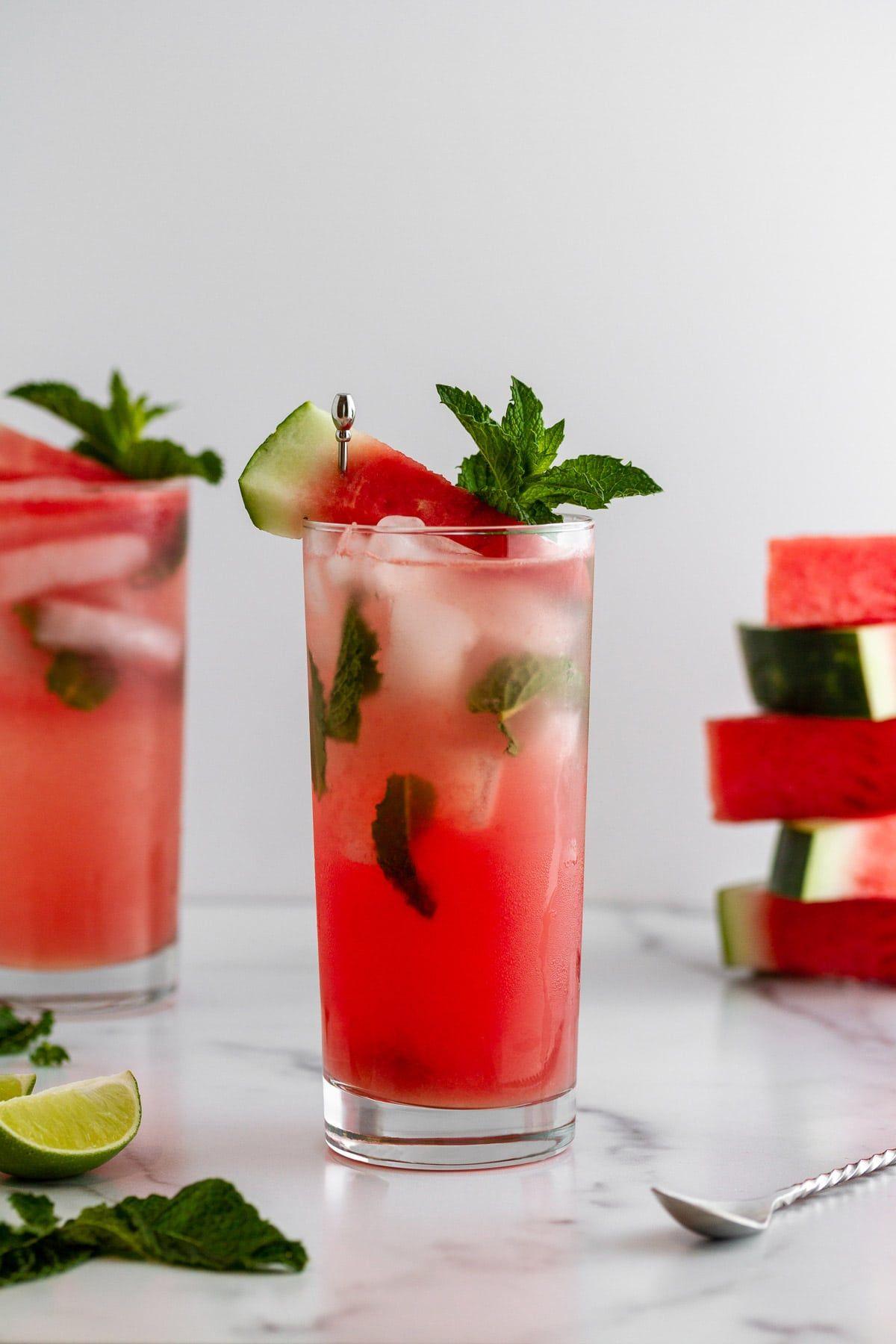 Minty Watermelon Mojitos