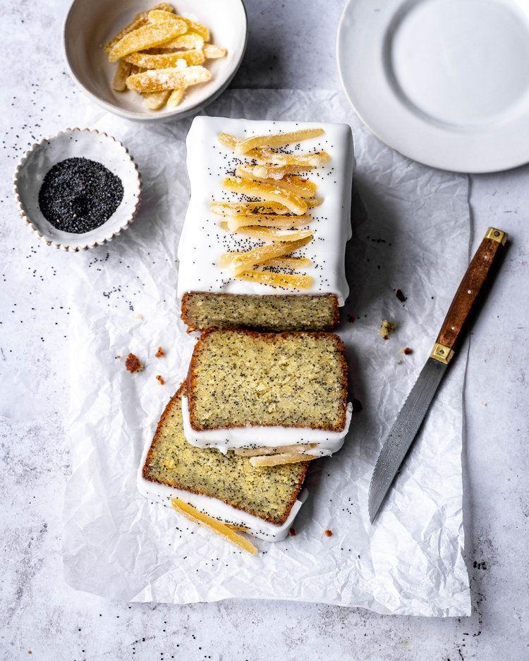 Lemon Poppy Seed Almond Paste Cake