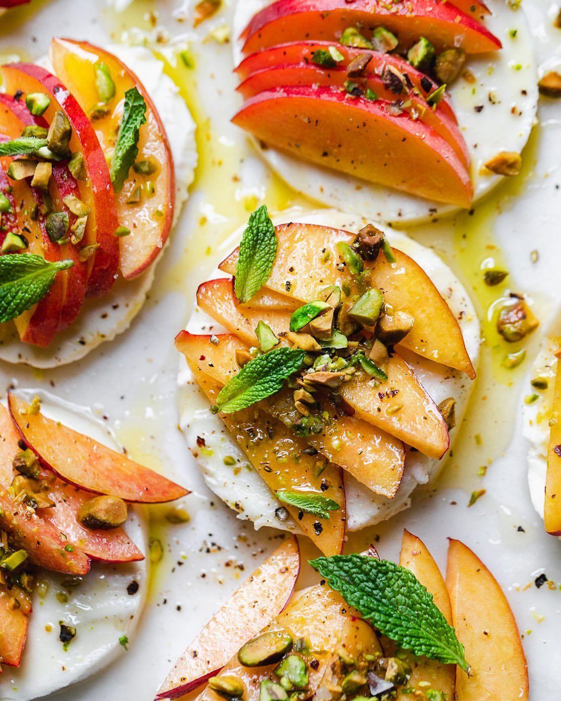 Honey Peach Pistachio Caprese