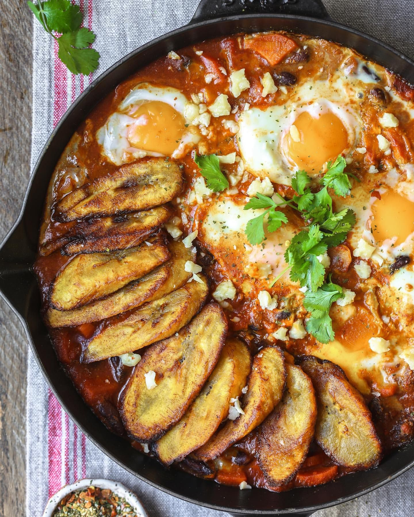 Shakshuka With Fried Plantains By Foodfashionparty Quick Easy Recipe The Feedfeed