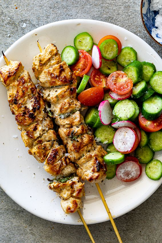 Lemon Herb Chicken Skewers