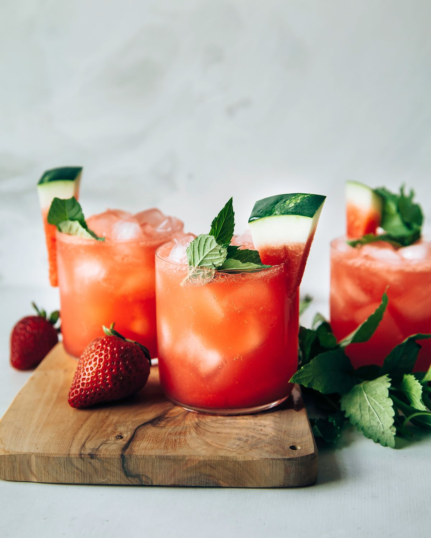 Sparkling Watermelon Strawberry Limeade