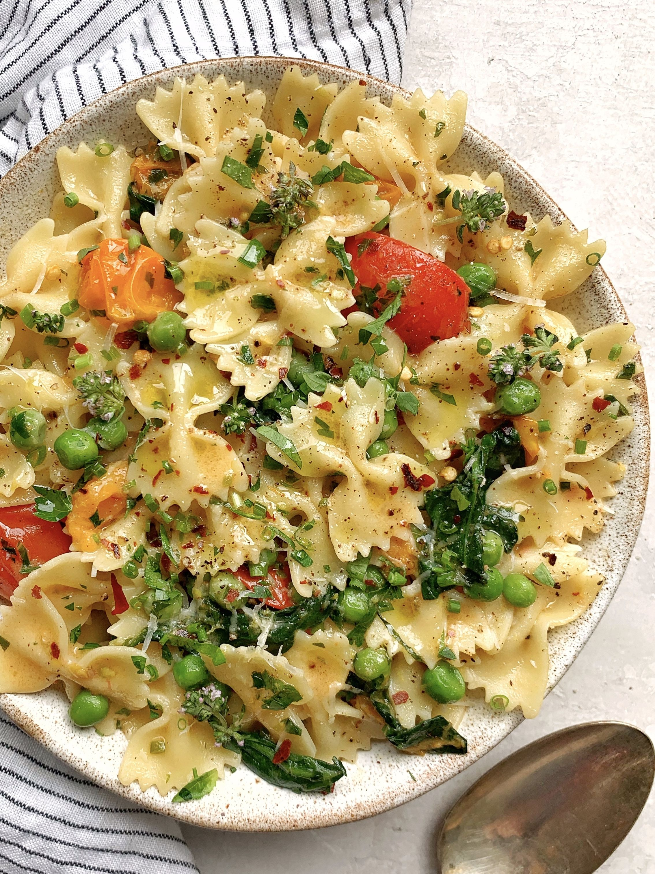 Brown Butter-Beer Farfalle with Herbs