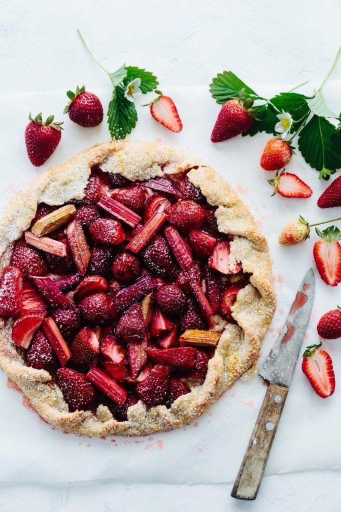 Rhubarb Strawberry Mascarpone Galette
