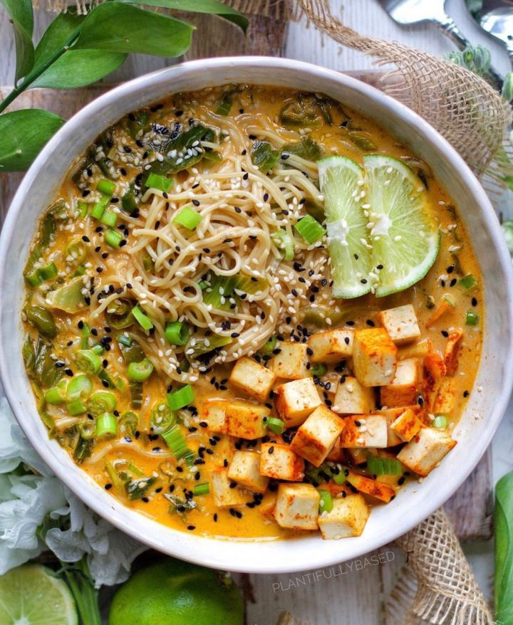 Red Curry Ramen with Tofu