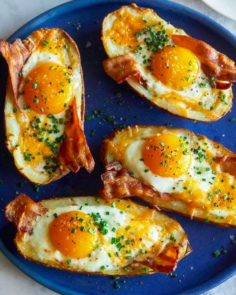 Twice Baked Bacon Cheese Potatoes