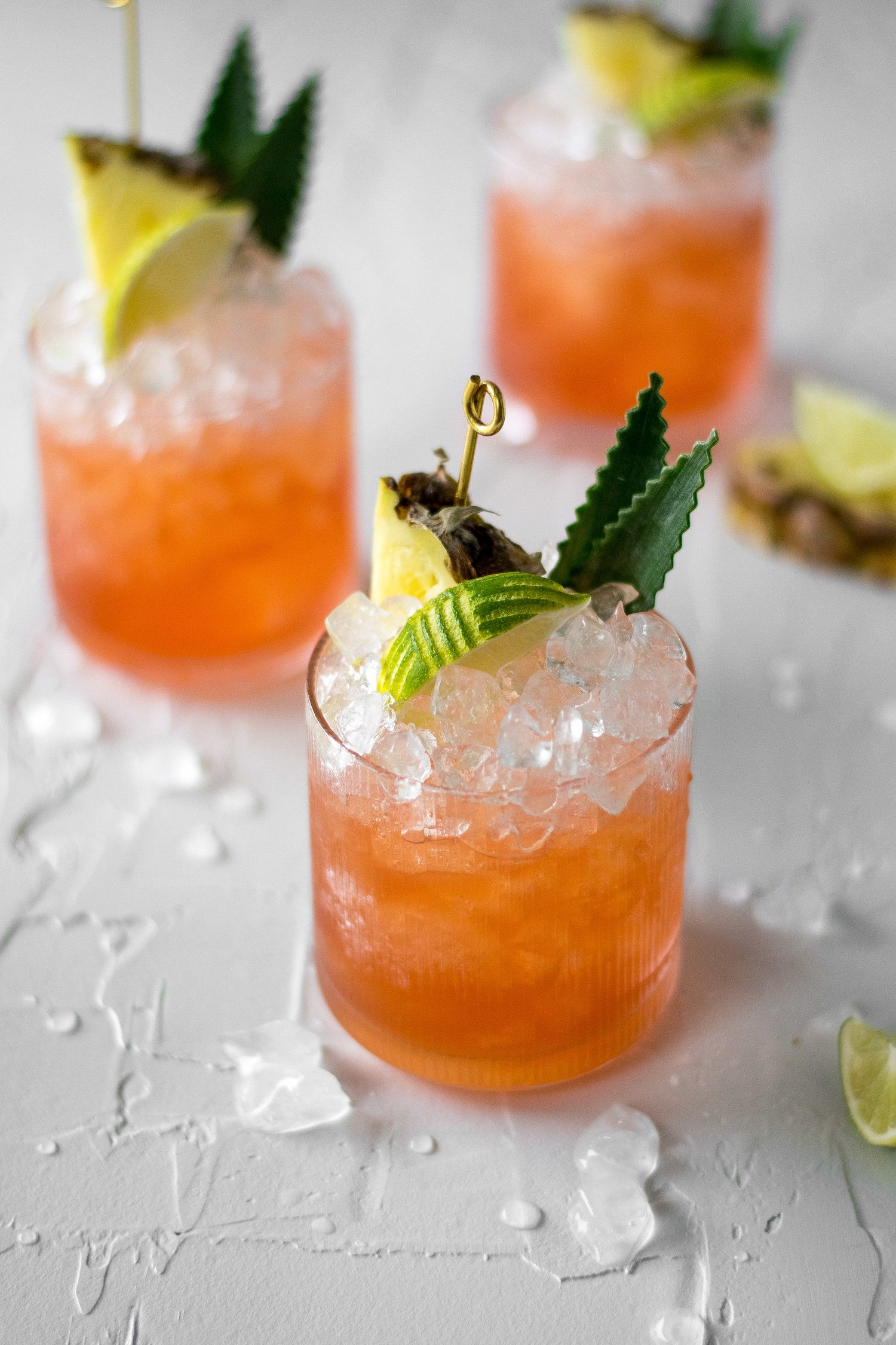 Pineapple Lime Rum Cocktail