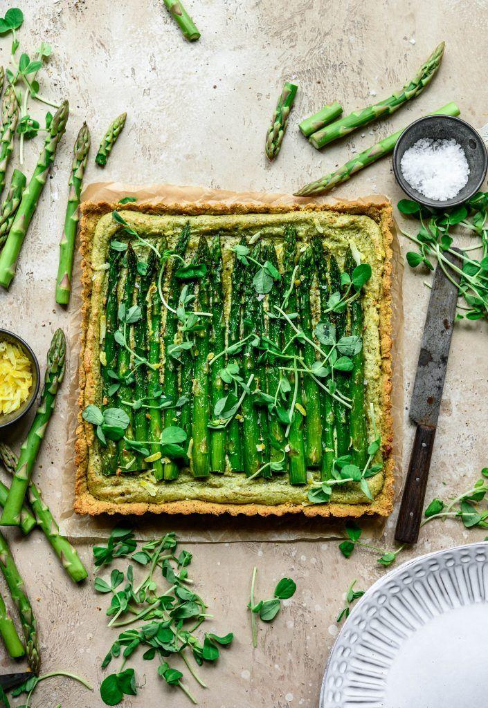 Cashew 'Ricotta' and Asparagus Tart