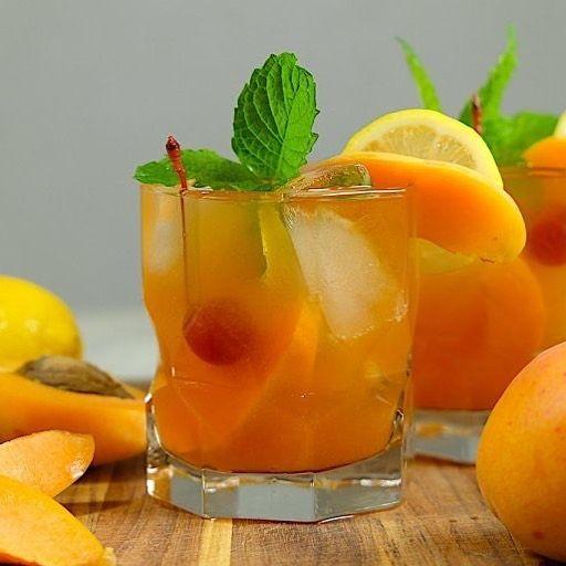Apricot Cherry Bourbon Smash