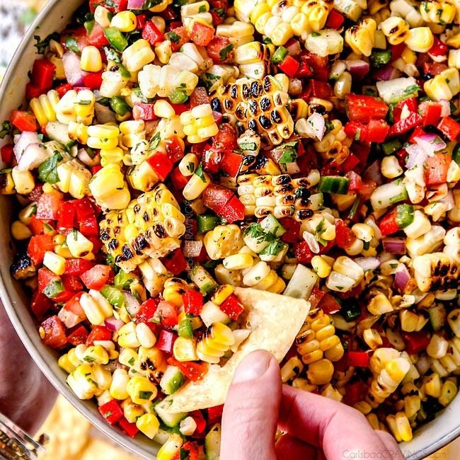 Spicy Charred Corn Salsa