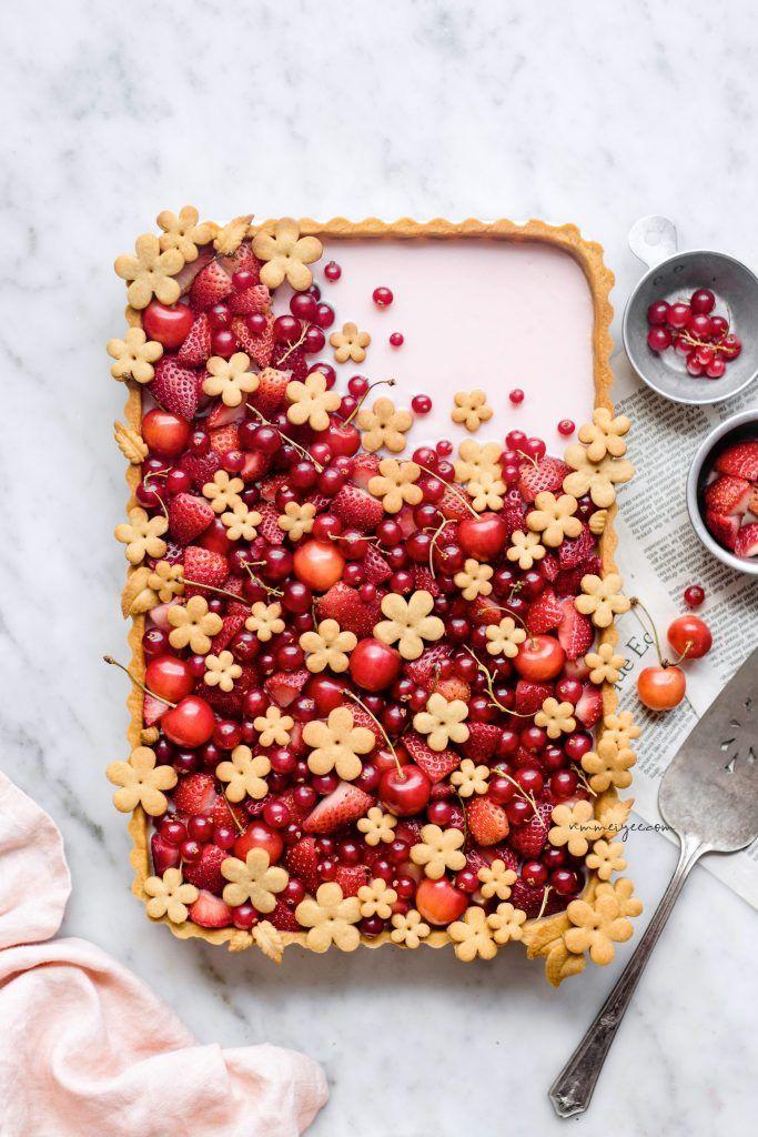 Hibiscus Strawberry Tart