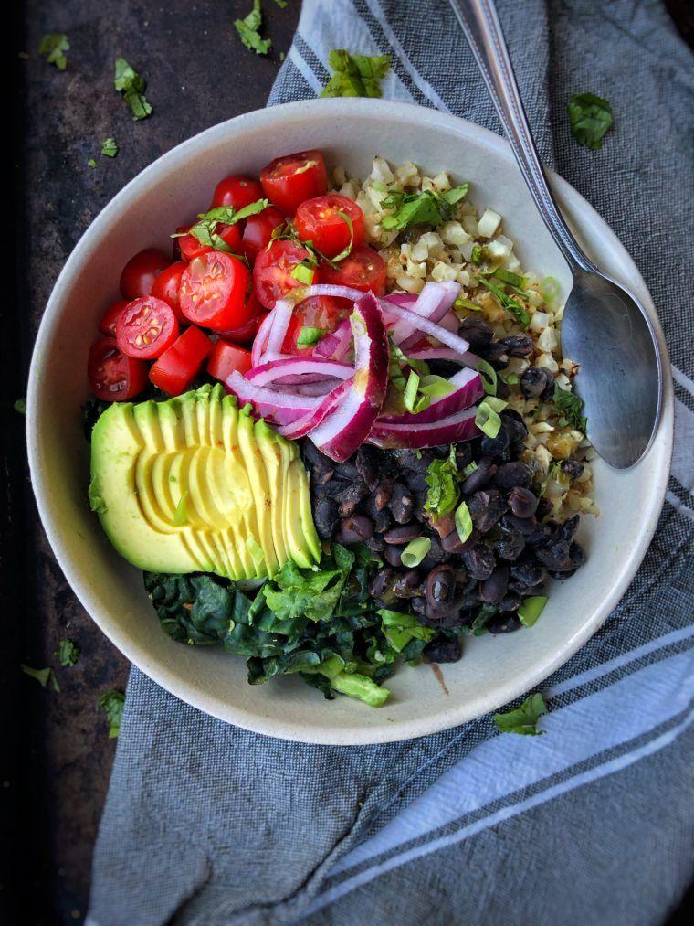 Citrus Marinated Kale Burrito Bowls