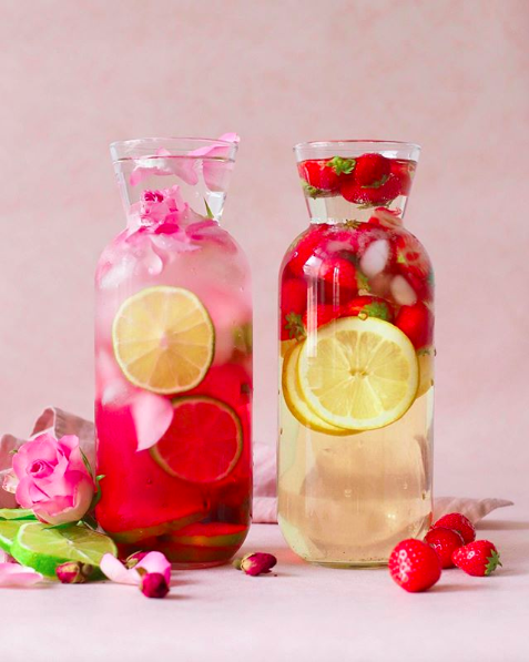 Berry and Flower Infused Water