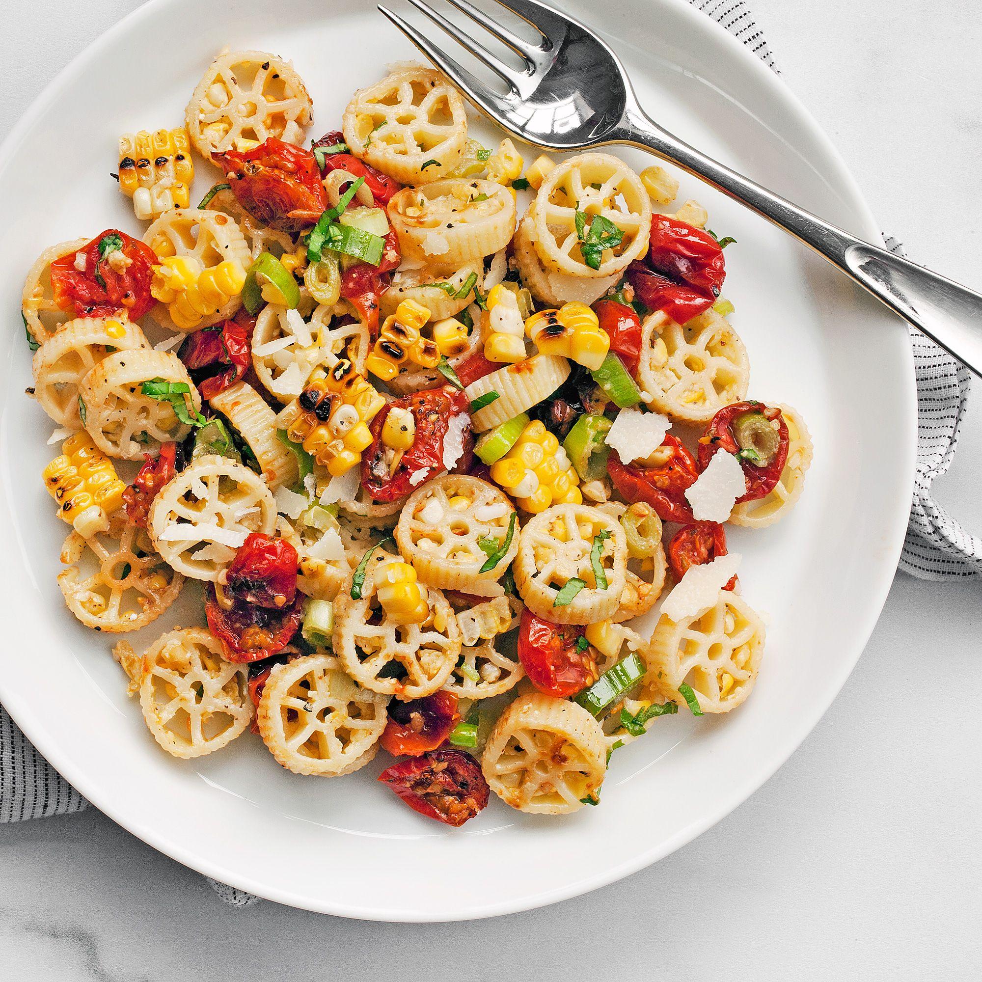 Walnut Corn Pesto Pasta