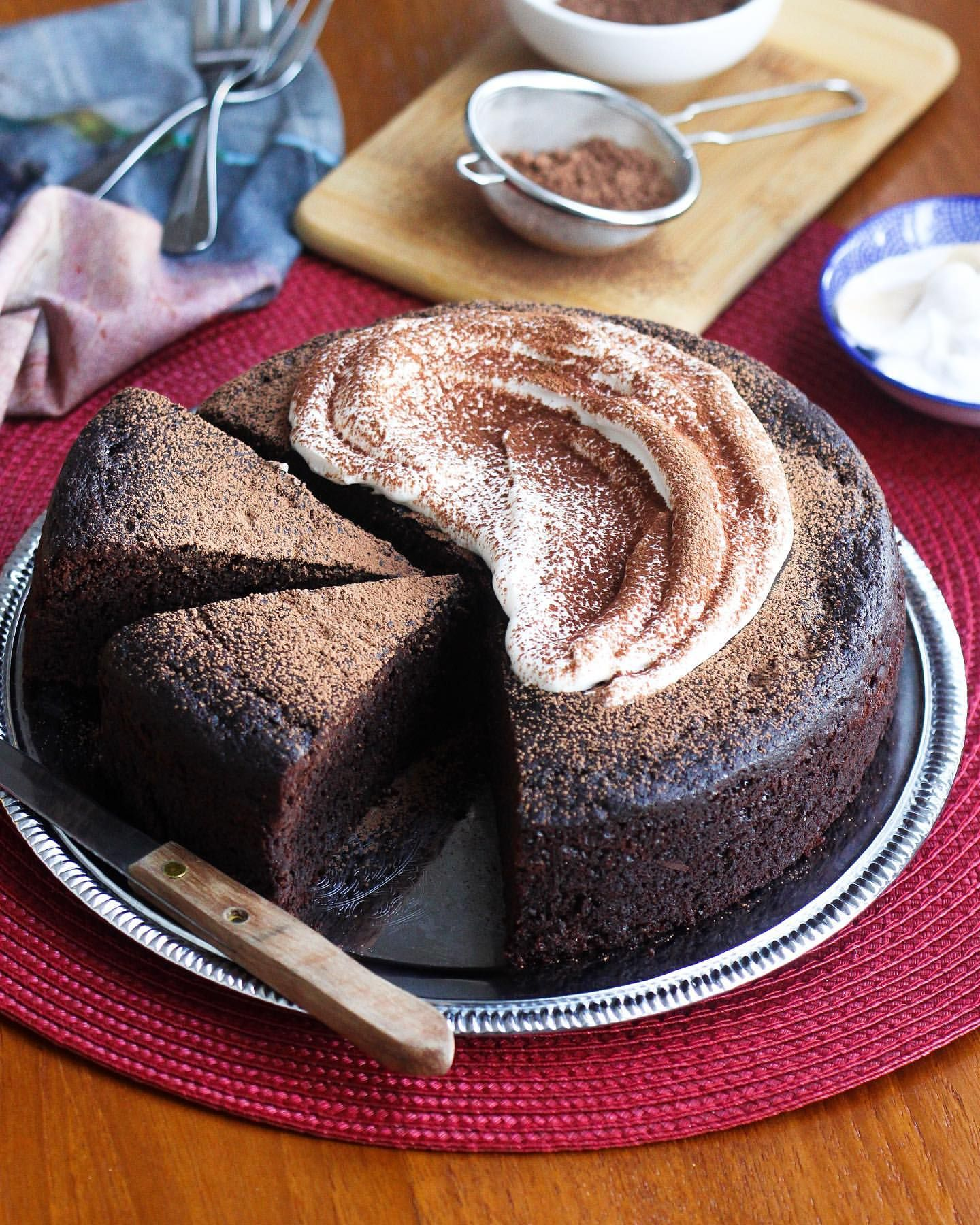 One Bowl Chocolate Sour Cream Cake