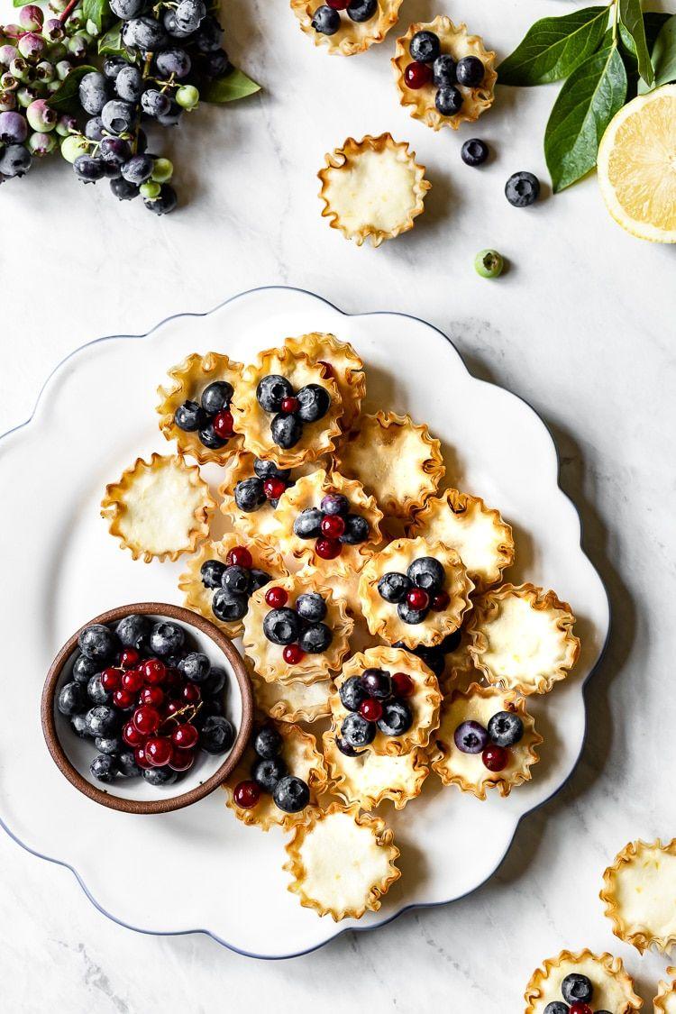 Mini Lemon Blueberry Tarts