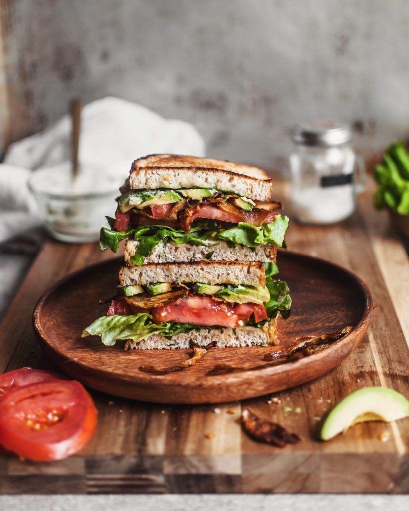'Bacon' Lettuce and Tomato Sandwich