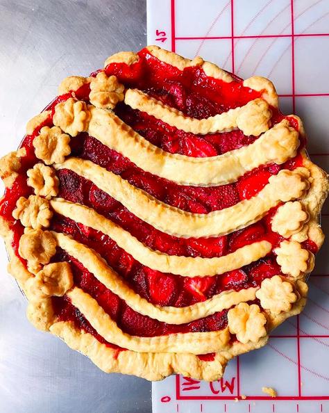 Strawberry Vanilla Bean Pie