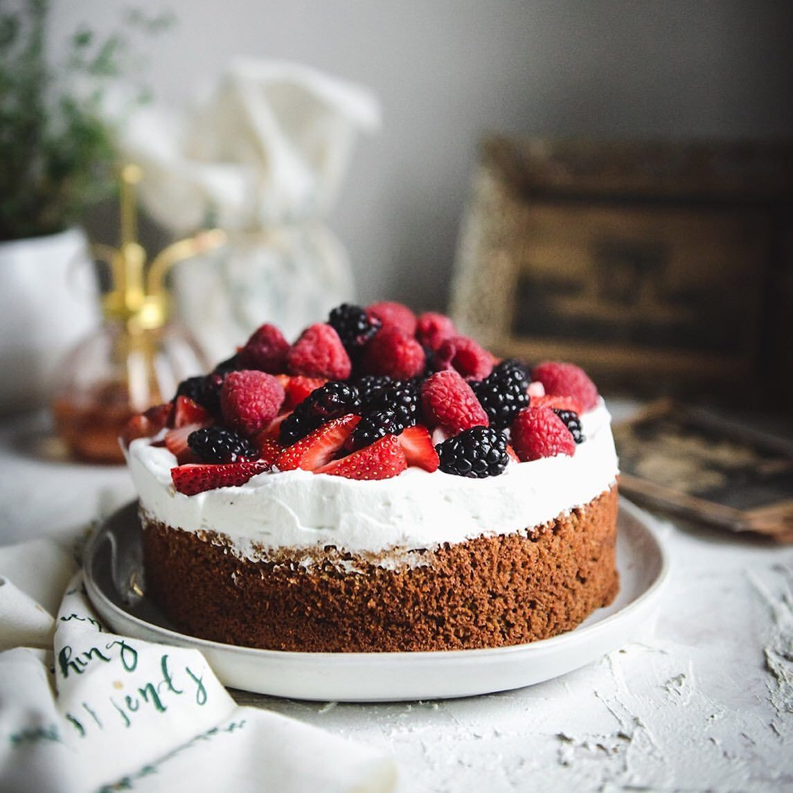 Vanilla Butter Cake with Berries