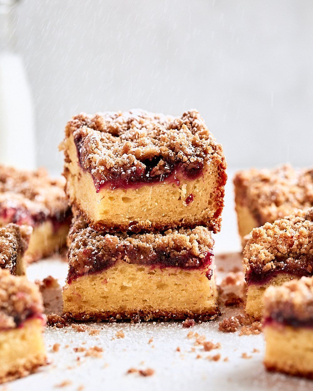 Cherry Brown Butter Coffee Cake