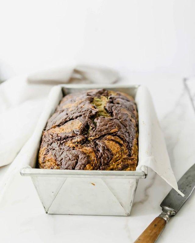 Zucchini Bread with Chocolate Halva Swirl