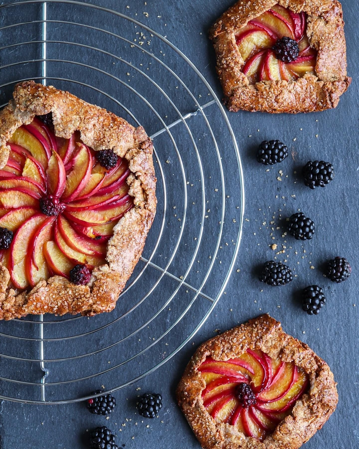 Blackberry Peach Galette with Almond Crust