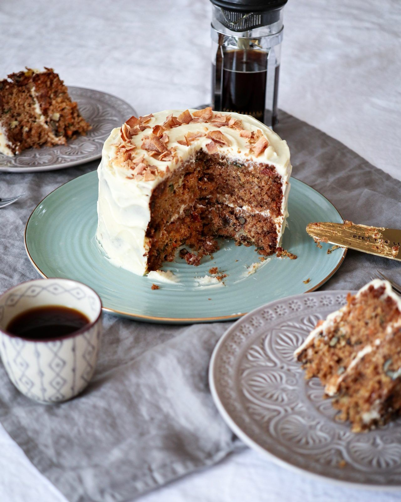 Vanilla Frosted Carrot Cake