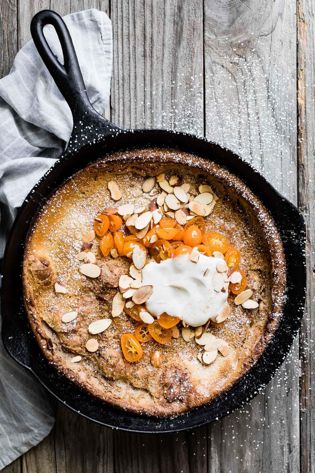 Almond Dutch Baby with Honeyed Kumquats