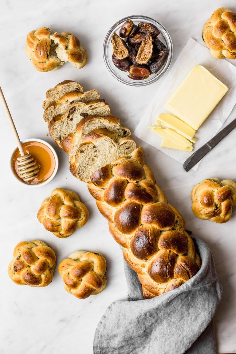 Challah Bread with Dates and Dried Figs