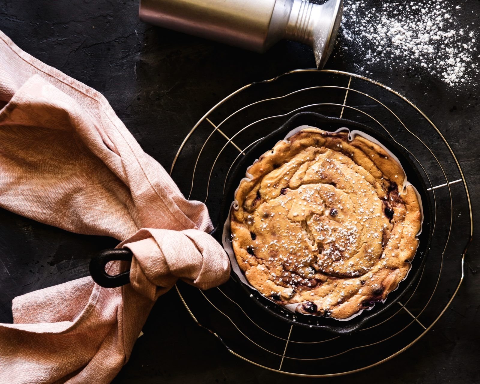 Healthy gluten-free blueberry dutch pancake - two sisters living life