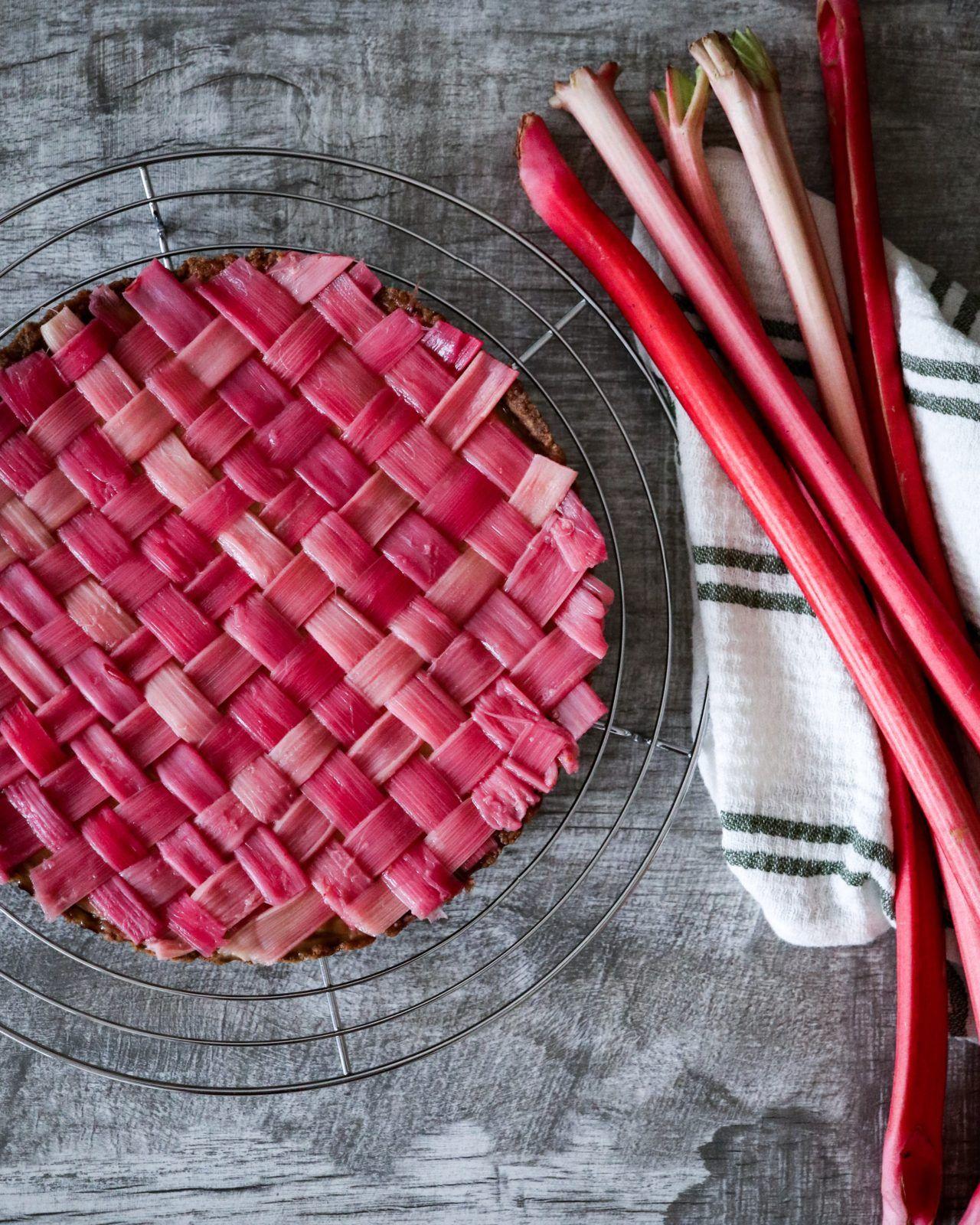 Rhubarb Lattice Tarte