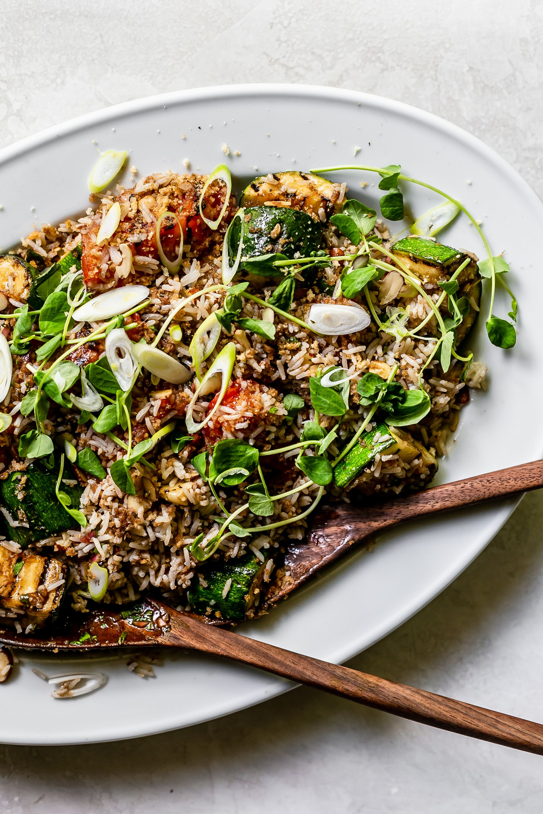 Herby Rice Salad with Roasted Vegetables