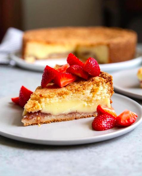 Strawberry Vanilla Basque Cake