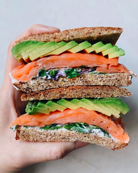 Salmon Avocado Sandwich By Peachonomics Quick Easy Recipe The Feedfeed